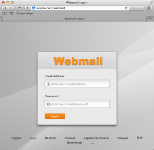 How to log in to your webmail with cPanel: 1