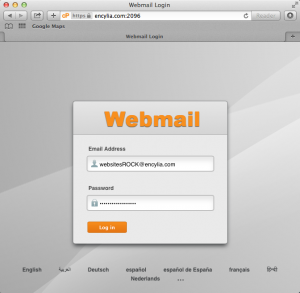 How to log in to your webmail with cPanel: 2